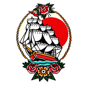 Tall Ship Back Patch