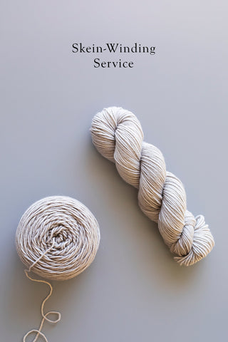 Skein-Winding Service For Preorders