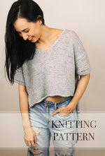 Summer Home Tee - Knitting Pattern PDF