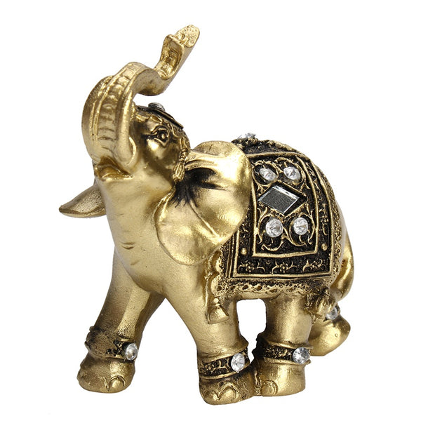 Lucky Brass Elephant Statue 9cm x 9cm - statue - The Elephant Kingdom Shop. Perfect gift for an elephant lover