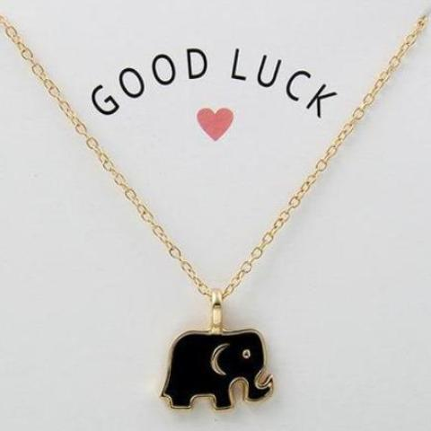 Good Luck Elephant Necklace - necklace - The Elephant Kingdom Shop. Perfect gift for an elephant lover
