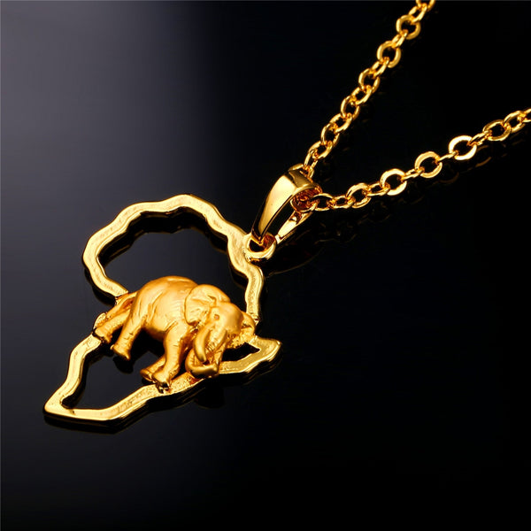 African Elephant Necklace - necklace - The Elephant Kingdom Shop. Perfect gift for an elephant lover