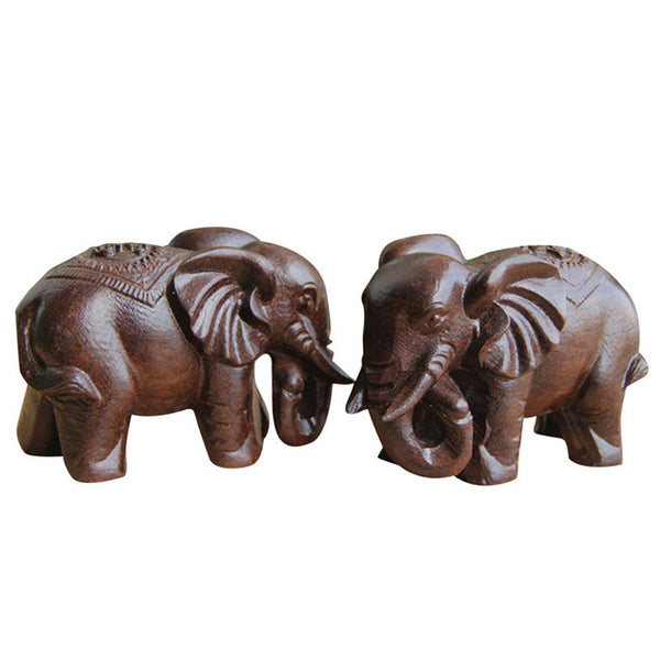 Miniature Wooden Elephants - ornament - The Elephant Kingdom Shop. Perfect gift for an elephant lover