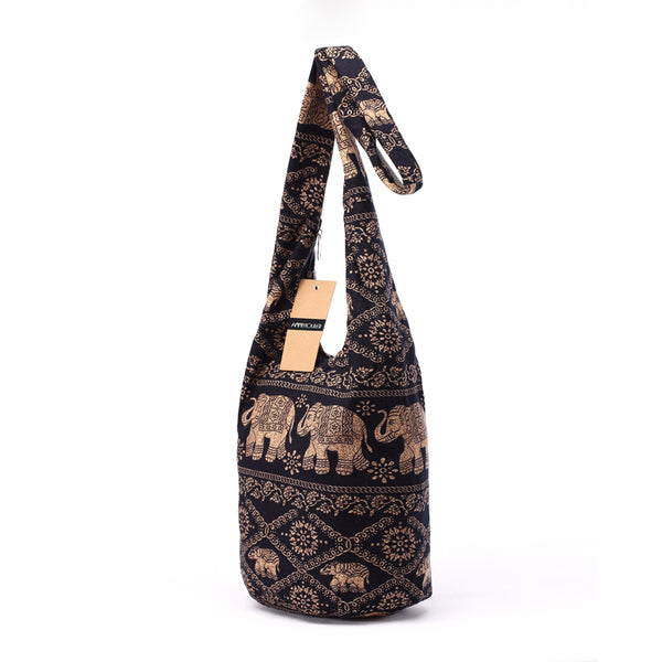 Vintage Elephant Pattern Shoulder Bag - bag - The Elephant Kingdom Shop. Perfect gift for an elephant lover
