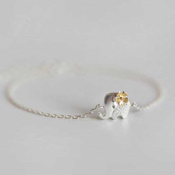Silver Plated Elephant Bracelet - bracelet - The Elephant Kingdom Shop. Perfect gift for an elephant lover