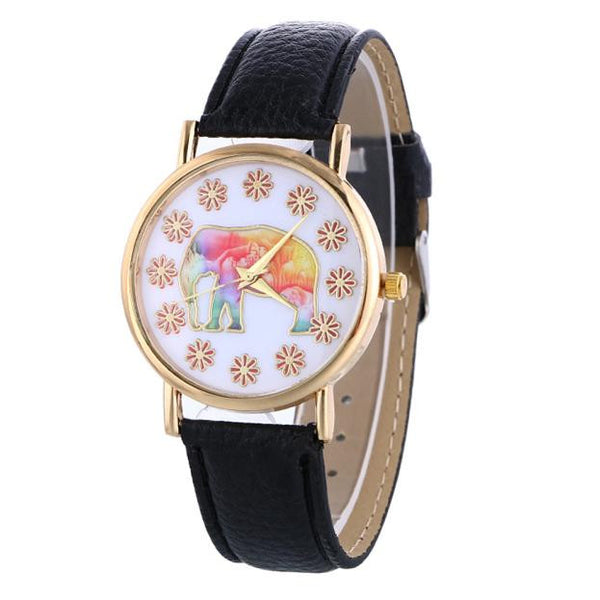 Leather Band Analog Wrist Watch - watch,watches - The Elephant Kingdom Shop. Perfect gift for an elephant lover