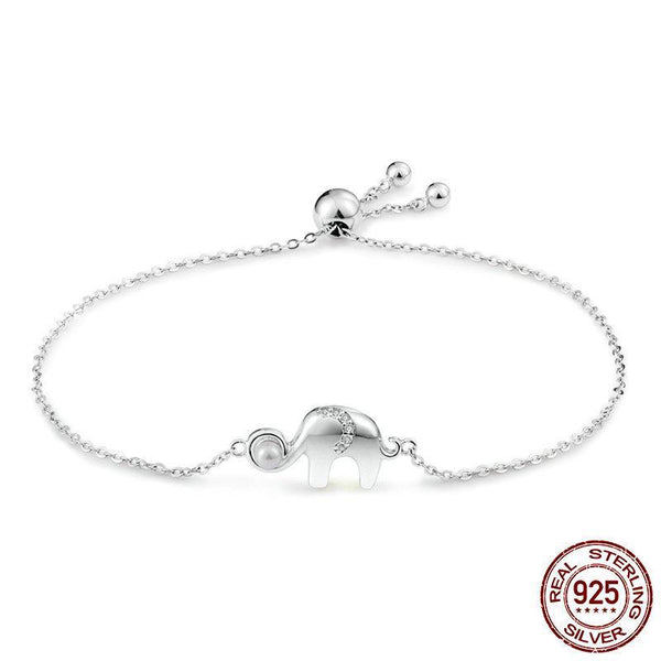 100% Sterling Silver Elephant Bracelet - bracelet - The Elephant Kingdom Shop. Perfect gift for an elephant lover