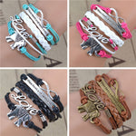 Handmade Leather Bracelets coming in 4 Colors! - bracelet - The Elephant Kingdom Shop. Perfect gift for an elephant lover