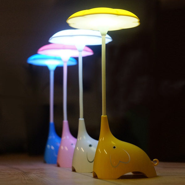 Rechargeable LED Night Light Lamp With Touch Sensor - LED - The Elephant Kingdom Shop. Perfect gift for an elephant lover