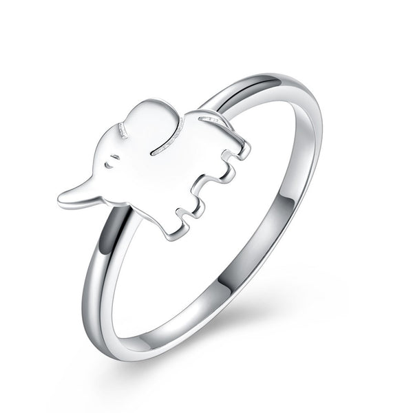 Sterling Silver Romantic Elephant Ring - ring - The Elephant Kingdom Shop. Perfect gift for an elephant lover