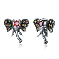 Vintage Silver Elephant Earrings - earring - The Elephant Kingdom Shop. Perfect gift for an elephant lover