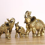 Golden Ceremonial Elephant Figurines - ornament - The Elephant Kingdom Shop. Perfect gift for an elephant lover