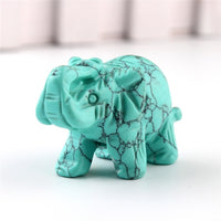 Natural Carved Elephant Ornaments - ornament - The Elephant Kingdom Shop. Perfect gift for an elephant lover
