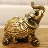 Lucky Elephant Ornament With Crystal - ornament - The Elephant Kingdom Shop. Perfect gift for an elephant lover
