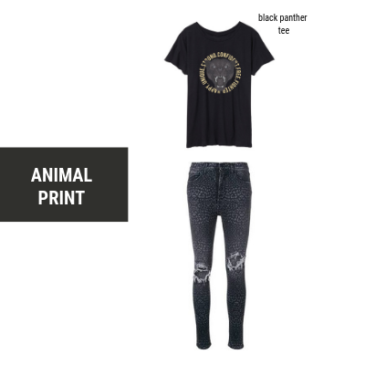 animal print with graphic tee