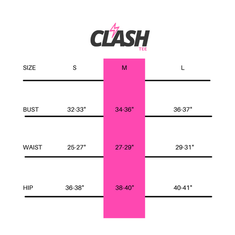 Size Chart Graphic Tees