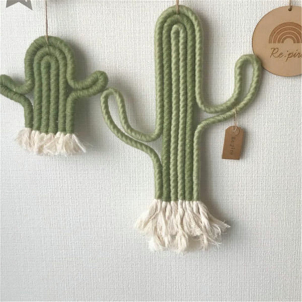 Cactus Wall Hanging Macrame Crochet DIY Playroom Kindergarten Decoration