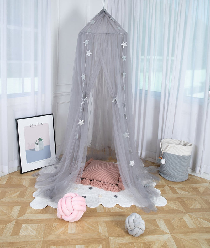 Unique 10 Layers Yarn Princess Bed Net Canopy- 4 Colors