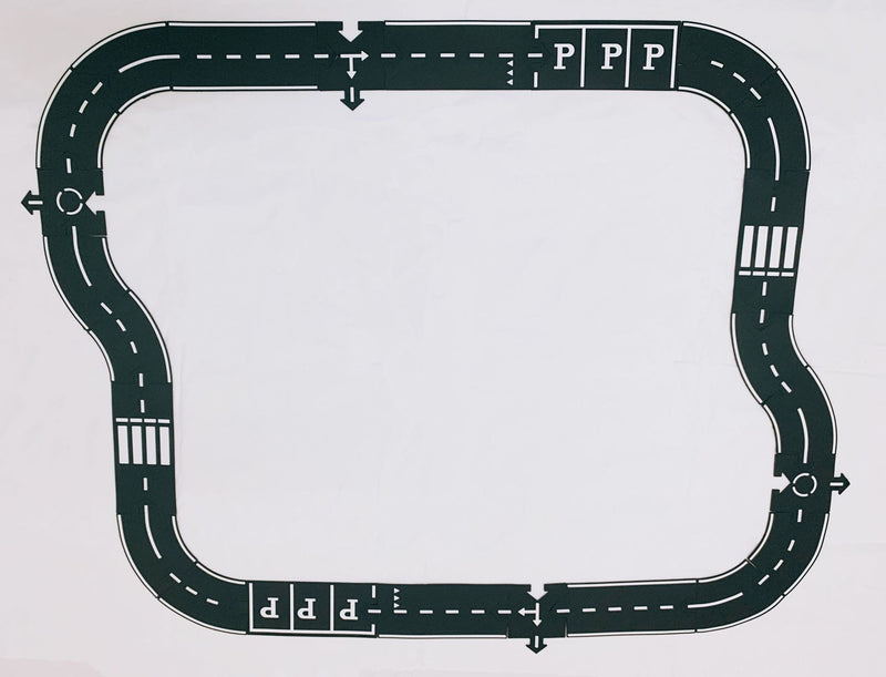 Plastic Racing Track Funny Road Print Built Up Car Track Puzzle Toy