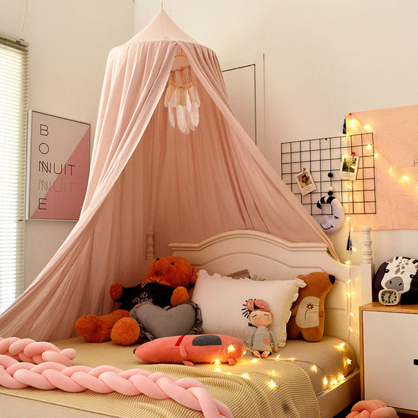 Fresh Color Tip Over Size Round Dome Mantle Polyester Tent Bed Canopy for Baby Playroom