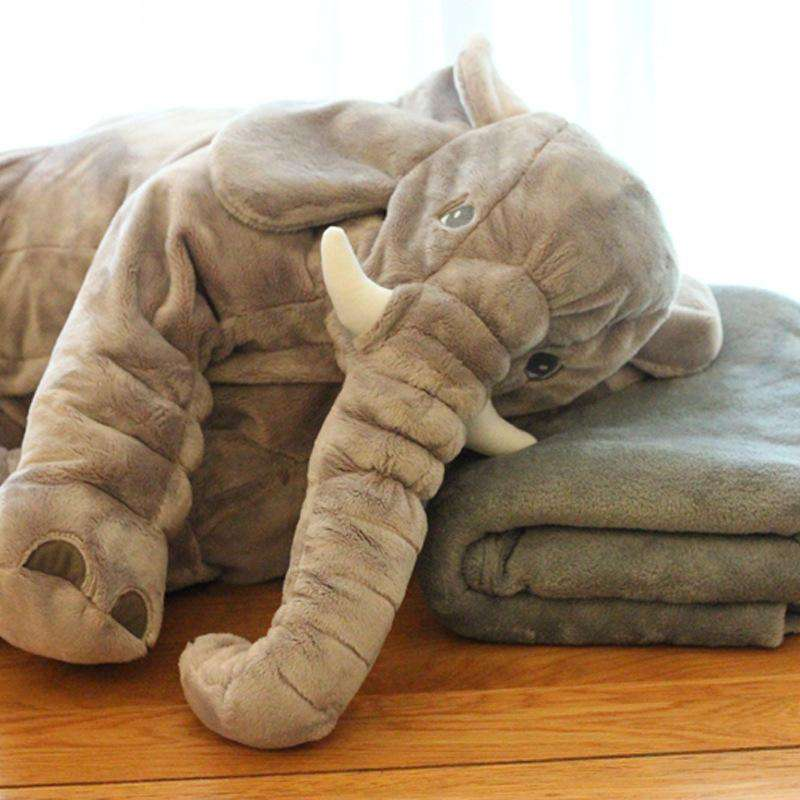Large Long Nose Elephant Gray Soft Plush Sleep Baby Pillow Toy
