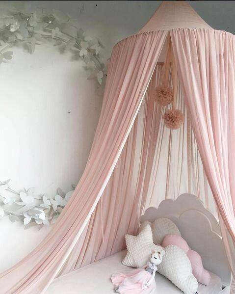 Double Pom Pom Canopy Decor Accessory for Baby Room