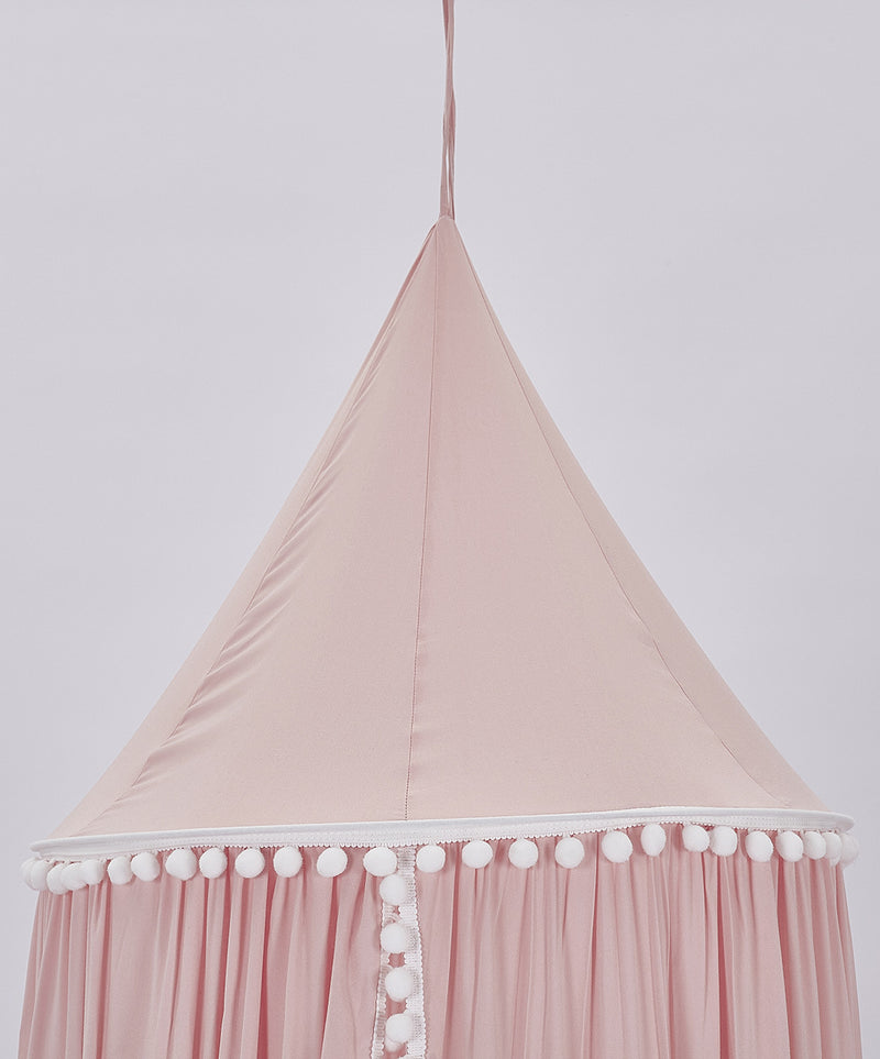 Bed Canopy with Pom Pom Tent Nursery- 3 colors