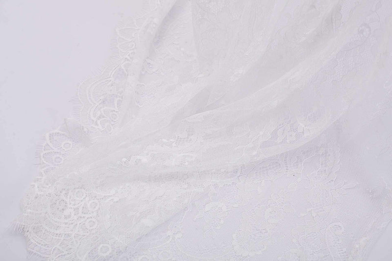Sweet Detail Lace Bed Canopy Playroom Decor - White