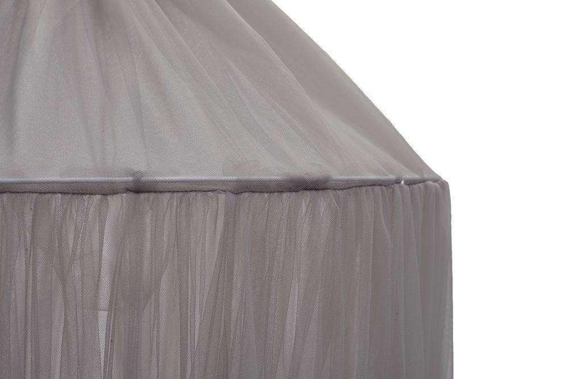 Unique 10 Layers Yarn Princess Bed Net Canopy- Gray