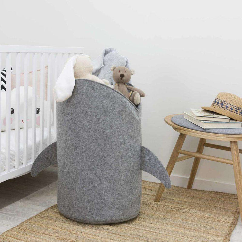 Shark Design Cloth Folding Laundry Toy Storage Basket Home Decor