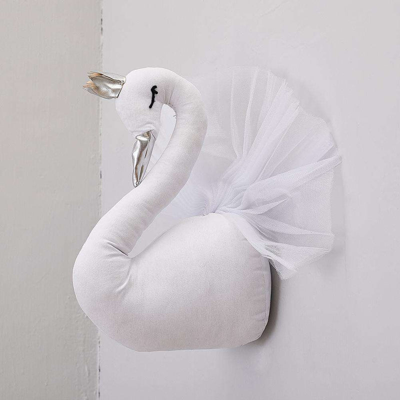 Lovely Princess Plush Swan on The Wall Hanging Dolls Kawall Lace Home Decor