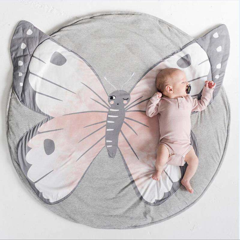 Butterfly Playmat Creeping Carpet Washable Rug for Kids Bedroom D¨¦cor