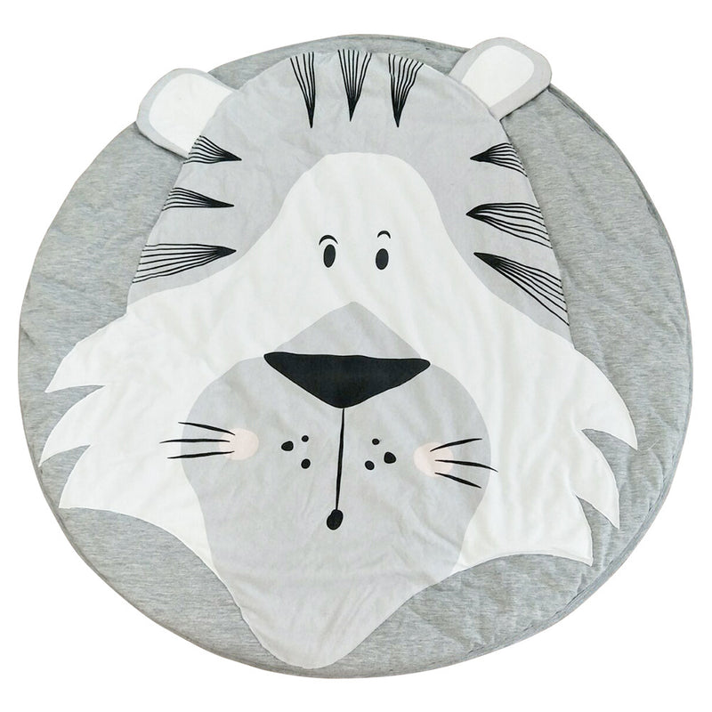 Adorable Animal Face Printed Creeping Carpet Rug Mat for Playroom Decor in 18 Styles