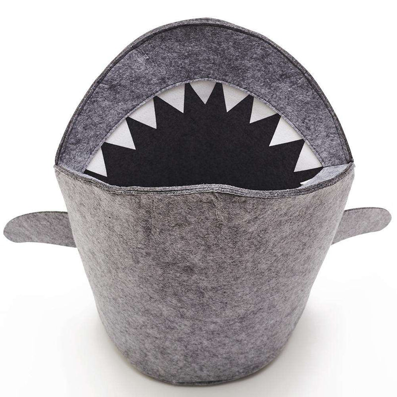 Shark Design Felt Cloth Folding Laundry Toy Storage Basket Home Decor