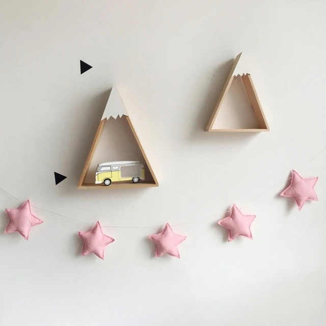 Felt Star Garland String Canopy Decor Accessory Hanging