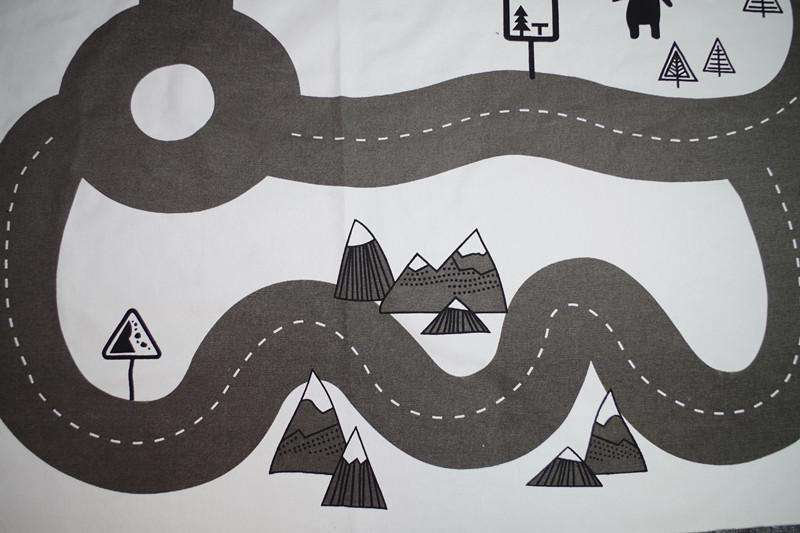Road Print Adventure Game Washable Creeping Carpet