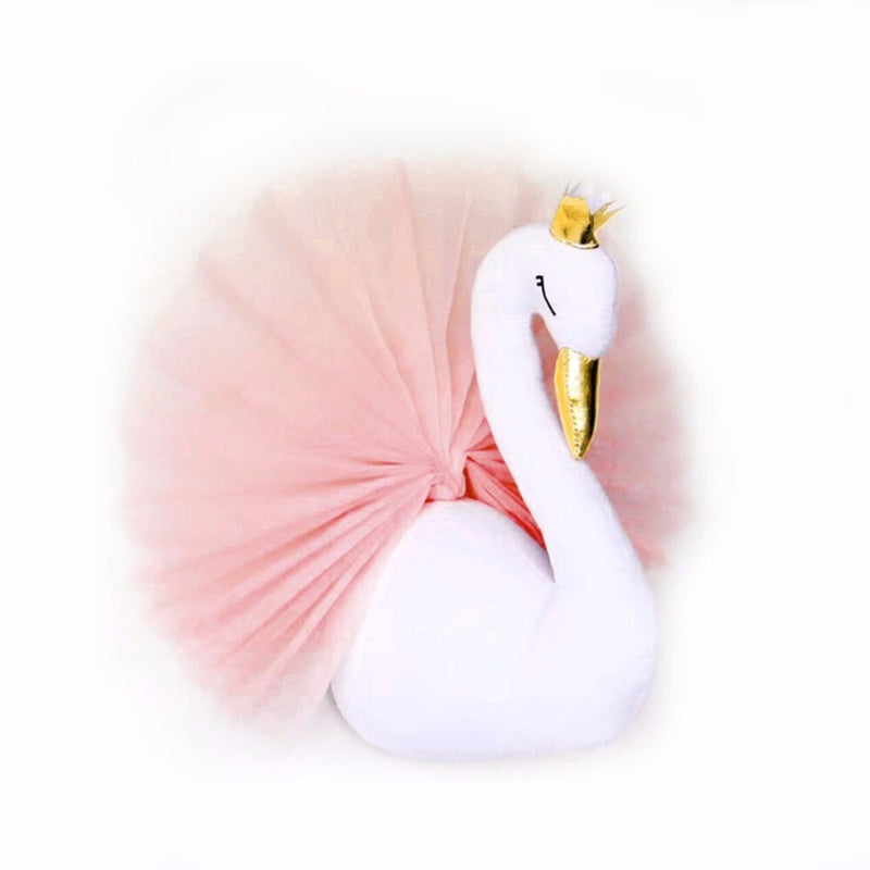 Lovely Princess Plush Swan Dolls Kawall Lace Home Decor Wall Hanging