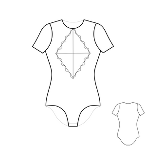 💎 Выкройка Боди Lace Diamond Body Shirt Bodysuit Sewing Pattern - store.belmode.ru