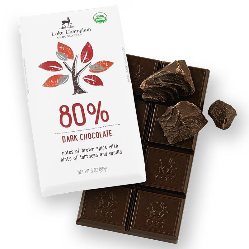 80% Cocoa Dark Chocolate Bar