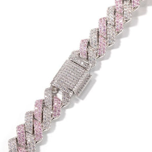 MP Rhombus Iced CZ diamond 13mm necklace