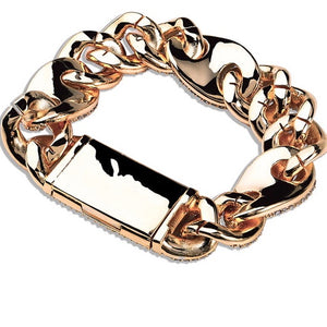 MP Gucci link chain iced CZ diamond 20mm bracelet