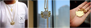 MP KAWS Iced out CZ diamond pendant & necklace