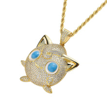 Load image into Gallery viewer, MP Pokemon bulbasaur iced CZ diamond pendant