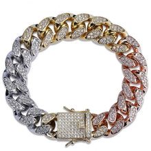 Load image into Gallery viewer, MP 3 colour iced CZ diamond 18mm bracelet