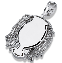 Load image into Gallery viewer, MP Lil pump iced CZ diamond pendant