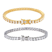 Load image into Gallery viewer, MP Tennis chain iced CZ diamond 6mm bracelet