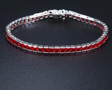 Load image into Gallery viewer, MP Princess CZ iced diamond 4mm bracelet