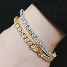 Load image into Gallery viewer, MP Tennis chain iced CZ diamond 4mm bracelet