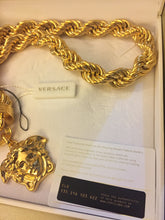 Load image into Gallery viewer, Versace 3D medusa head strong rope necklace