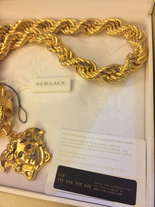 Versace 3D medusa head strong rope necklace